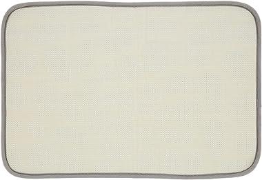 Floor Mat, Flannel Absorbent Soft Doormat for Kitchen(Grey)