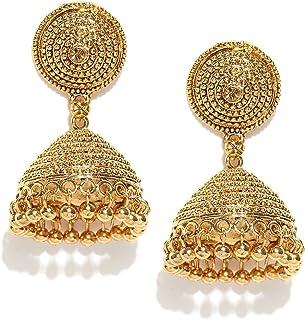 Zaveri Pearls Jhumki Earrings for Women (Golden) (ZPFK6632)