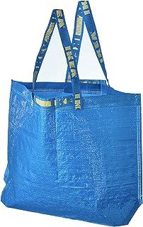 4 Ikea Frakta Shopping Bags 10 Gal Blue Tote Multi Purpose Durable Material
