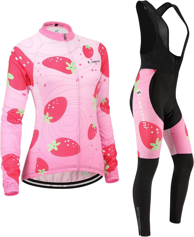 Cycling jersey Set, Maillot de Cyclisme Women Femme Long sleeve Manches Longues(S5XL,option bib Cuissard,3D pad Coussin) N229