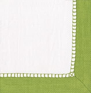 Entertaining with Caspari Linen Paper Cocktail Napkins, Bright Green, Pack of 20