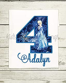 Ice Princess Birthday Shirt, Elsa Frozen Birthday Shirt AGES 1-9