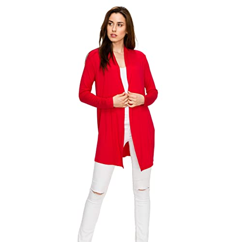 c618a144ac37a EttelLut Long Lightweight Wrap Cardigans Sweaters-Open Front Regular Plus  Size