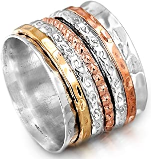Boho-Magic Spinner Ring for Women | 925 Sterling Silver...