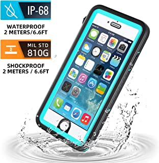 meritcase iPhone 6/iPhone 6s Waterproof Case, IP68 4.7 inch iPhone 6/6s Full Body Shockproof Snowproof Dirtproof Sandproof Case for Swimming Diving Surfing Snorkeling (4.7 inch, Blue)