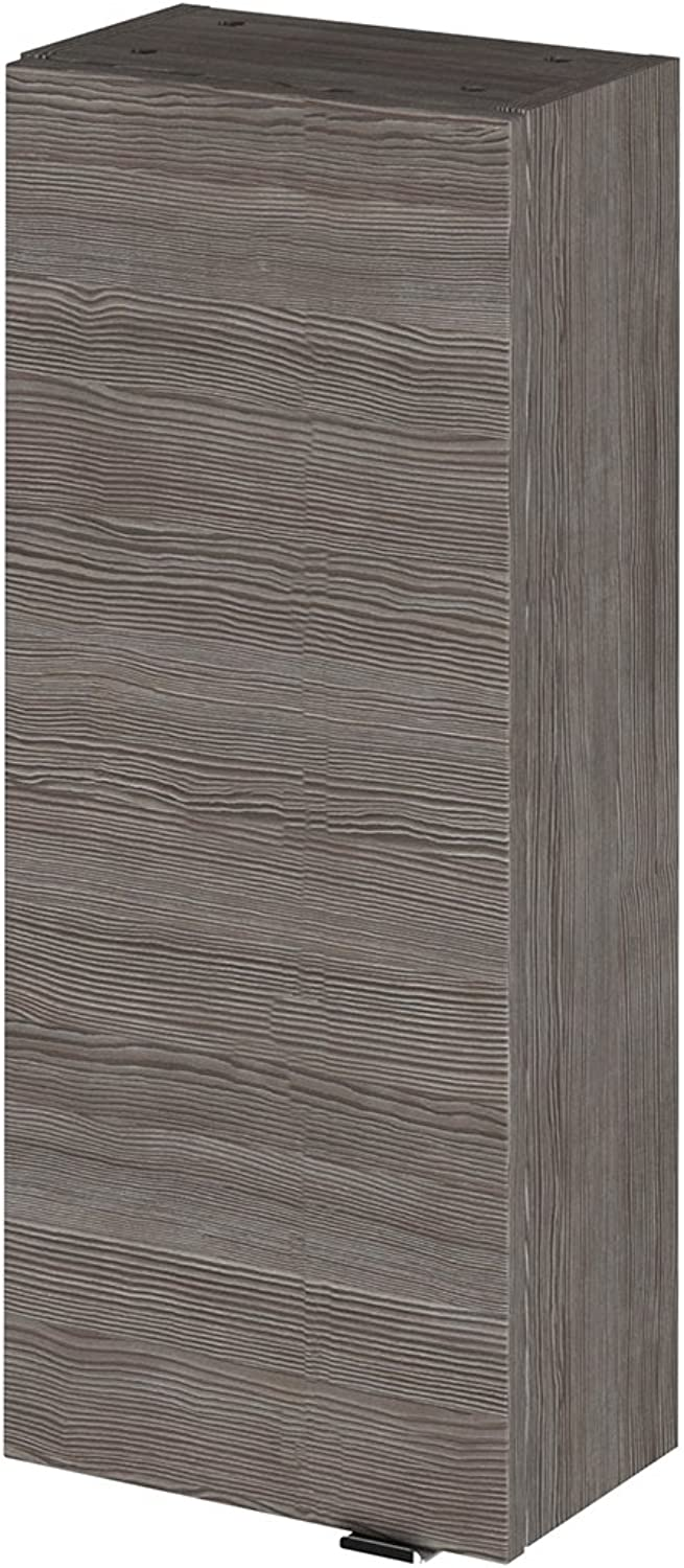 Hudson Reed OFF551 Wall Unit Storage Cabinets, Grey Avola, 300mm