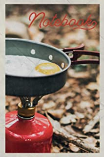 Notebook: Camping Stove Professional Composition Book Journal Diary for Men, Women, Teen & Kids Vintage Retro Design for backpack hiker