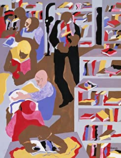 Berkin Arts Jacob Lawrence Giclee Art Paper Print Art Works Paintings Poster Reproduction(The Schomburg)