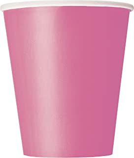 9oz Hot Pink Paper Cups, 14ct