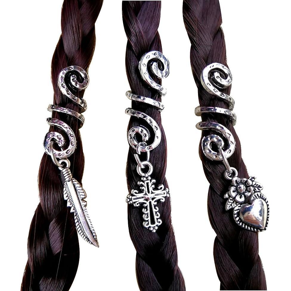 DREADLOCK Hair Bead Hair Accessories-Viking Hair Beads Handmade Nordic Hair Beads for Braids Viking Jewelry Snake Bead Beard Jewelry Viking Hair Jewelry Viking Hair Bead Beard Bead