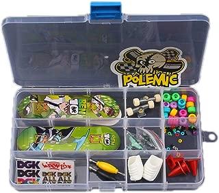 Yair Yangtze YY Finger Board Playset DIY Finger Skateboard Kit with 2 Decks in Storage Box Coffee