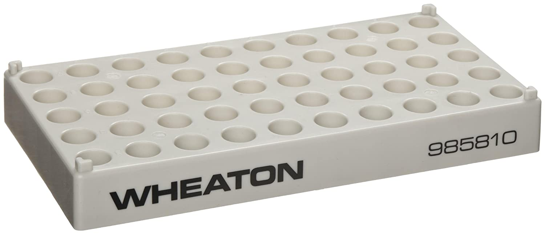 Wheaton Translated 985810 Superior Polypropylene CryoELITE 50 Benchmate Holds Rack