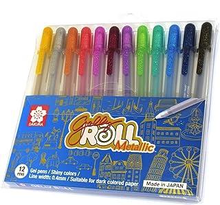 طقم ألوان ساكورا كوي جيلي لماع 12 لون للورق الغامق
