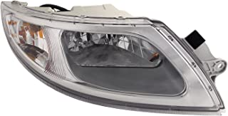 HEADLIGHTSDEPOT Chrome Housing Headlight Compatible with International International Harvester 4100 4200 4300 4400 8500 TranStar 8600 Includes Right Passenger Side Headlamp