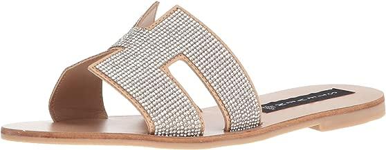 STEVEN by Steve Madden Womens Greece Leather Flat Sandals