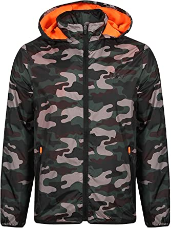 Tokyo Laundry Mens Camouflage Jacket Hood Military Army Lighweight Lined Summer