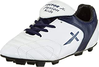 Vector X Fusion Kids White Blue Football Shoes