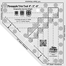 Creative Grids Mini Pineapple Trim Tool Quilting Ruler Template [CGRJAW3MINI]