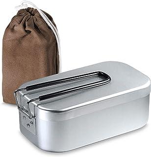 SPACEEN メスティン 飯盒 炊飯 シェラカップ キャンプ用品 調理器具 ケース 付き