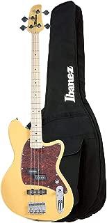 Ibanez TMB100M Talman Bass Mustard Yellow Flat and IBB101BK Gig Bag Bundle
