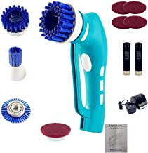 Cordless Electric Scrubber, Power Spin Scrubber, Handheld Power Scrubber with 4 Spin Scrubber Brushes Heads for Tiles,Show...