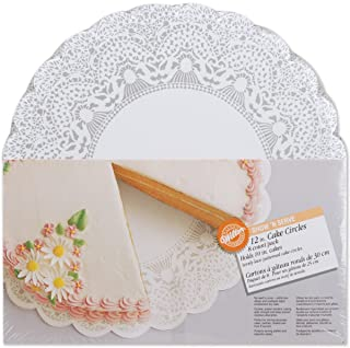 Wilton Show-N-Serve 12-Inch Lace Doily Cake Circles, 8-Count - Round Cake Boards
