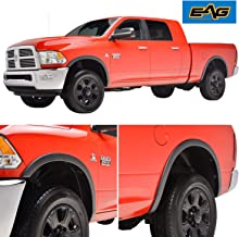 EAG Fender Flares for 4pcs - Textued Satin Black OEM Style Fit for 2010-2017 Dodge Ram 2500