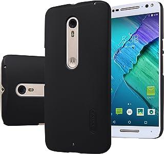 MYLB Kvalitetsskrapa fodral/väska/skyddande skal baksida för Motorola Moto X Style 2015 + 1 förpackning skärmskydd (svart)