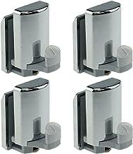 Deurhaak voor douchedeuren, verchroomd, 4 stuks, YQ-1012