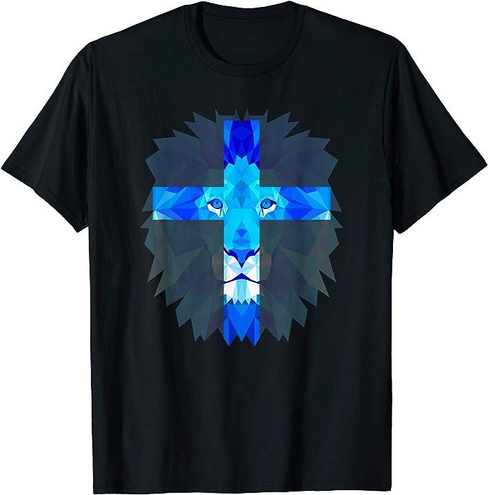 Christian Shirt - Jesus Lion of Judah T Shirt