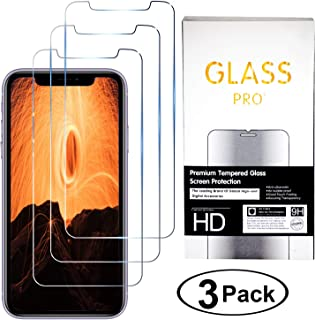 Glass Pro [3 Pack] Tempered Glass Screen Protector for Apple iPhone 8 8 Plus Screen Protector for iPhone XR iPhone Xs Max Screen Protector iPhone 11/11 Prox/11 Pro Max/X/7/7 Plus (XR/11)