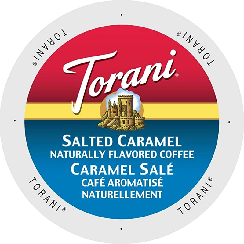 Torani Salted Caramel Flavored Coffee Single Serve Cups For Keurig K Cups Brewer 24Count