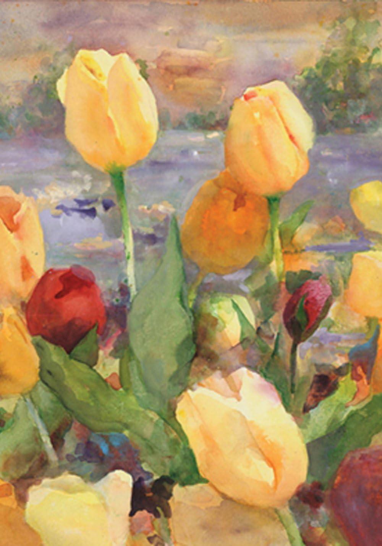Amazon Com Toland Home Garden 107212 Tulip Gold 28 X 40 Inch Decorative House Flag 28 X40 Outdoor Flags Garden Outdoor