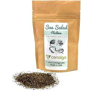 CENALGA Organic Irish Seaweed Salad Fusion Flakes - Dulse, Wakame, Sea Lettuce, Sugar Kelp - 1.5 oz / 42.5 g We avoid Plas...