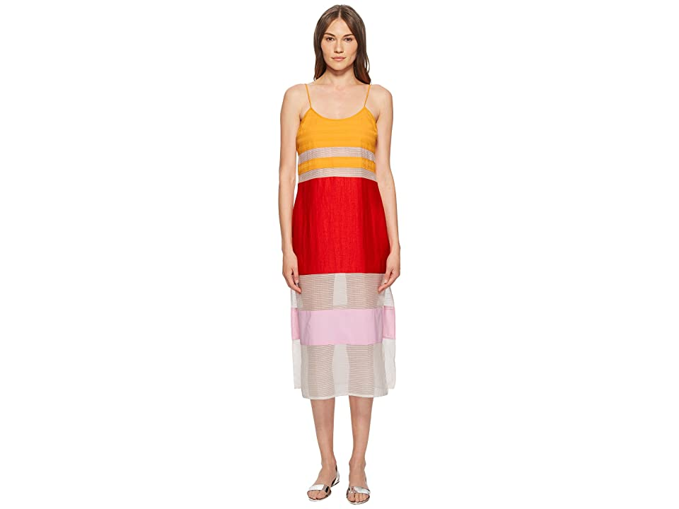 FLAGPOLE Lexi Dress Cover-Up (Tangerine/Stripe/Strawberry) Women