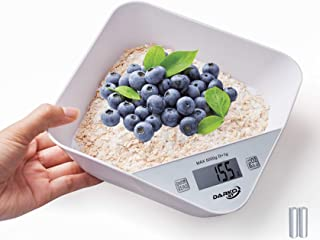 Kitchen Scale - Electronic Kitchen Scale Bowl, Digital Kitchen Food Scale, Weighing Cooking Scale for Home - Batteries inc...