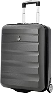 Larger Capacity Maximum Allowance 21x16x8 Carry On Travel Suitcase Rolling CarryOn Luggage Cabin Bag (Charcoal)