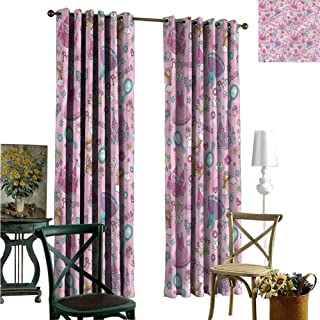 nooweihome Best Home Fashion Wide Width Thermal Insulated Blackout Curtain Princess,Dresses Castle Rainbows Window Light Curtain 84 x L108 inches