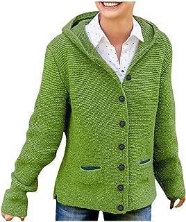 LEKODE Sweater Women's Hoodie Solid Long Sleeve Knit