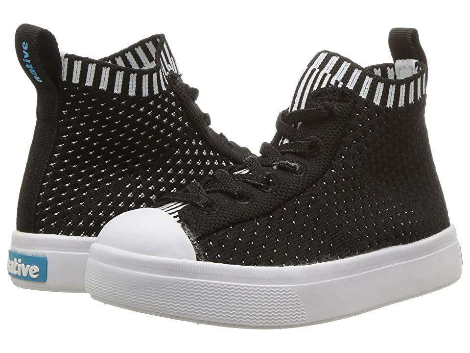 Native Kids Shoes Jefferson 2.0 High Lite (Toddler/Little Kid) (Jiffy Black/Shell White) Kids Shoes