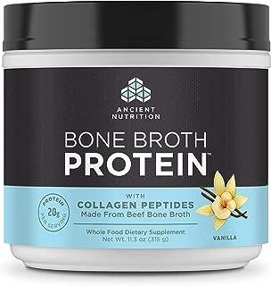 Ancient Nutrition Beef Bone Broth Protein Powder, Vanilla Flavor, 11.3oz