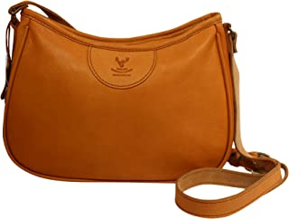 Barrhead Leather Authentic Wild Scottish Deerskin Maria Leather Cross Body Bag Purse Tan or Brown