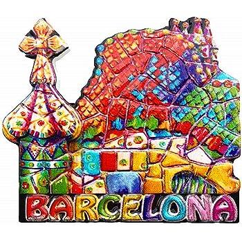 Hqiyaols Souvenir Barcelona España Mosaico 3D Nevera Refrigerador ...