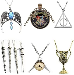unbranded 9 packs Cosplay Pendant Necklaces Deathly Hallows Wizard Wands Golden Snitch