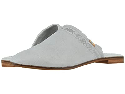 TOMS Jutti Mule (Glacier Gray Leather) Women