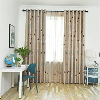 GYROHOME Blackout Curtains Room Darkening Thermal Insulated Curtain Triangular Print Grommet Drapes for Bedroom and Living...