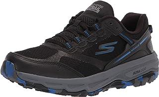 Skechers Men's GOrun Altitude-Trail Running Walking Hiking Shoe Sneaker with Air Cooled Foam, Black/Blue, 10.5