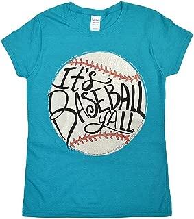 Tees2urdoor It's Baseball Ya'll Glitter Ladies Fit T-Shirt