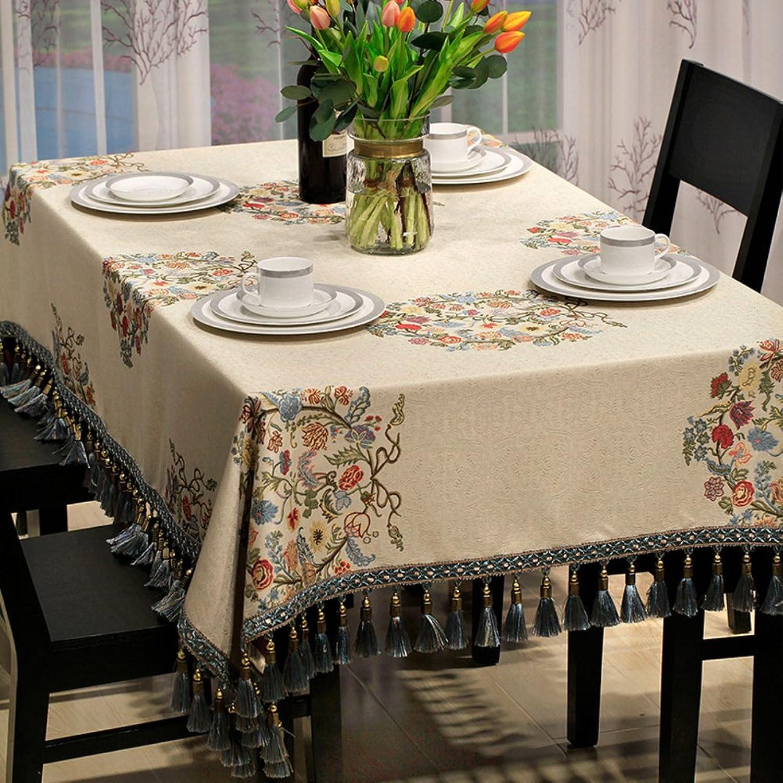 Private home textiles Tischtuch Desktop Dekoration Schutz tischtuch quaste-A 135x135cm(53x53inch)