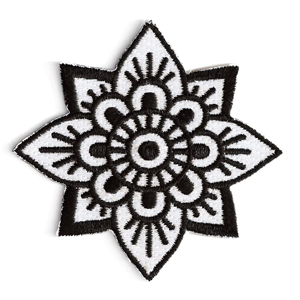 These Are Things Mandala Flower Embroidered Iron On or Sew On Patch
